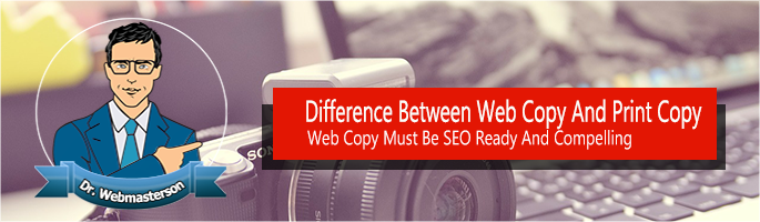 Difference between Web and Copy Writing